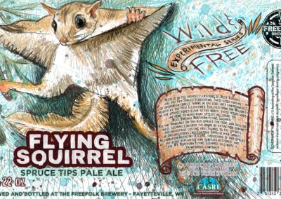 FLYING SQUIRREL-5 x 8.125 label